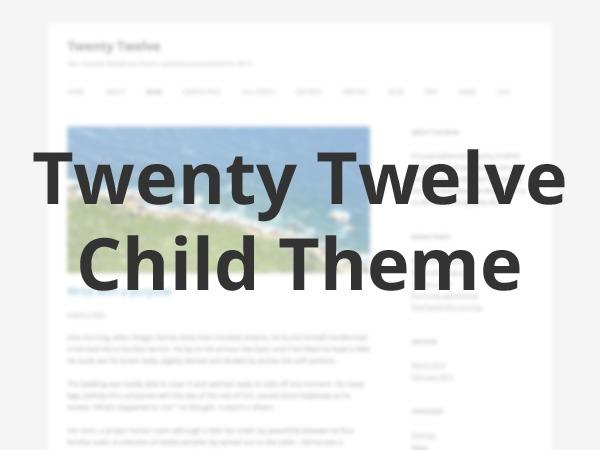 Twenty Twelve Child by PabstWP WordPress theme design