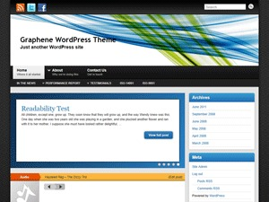 WordPress template Graphene
