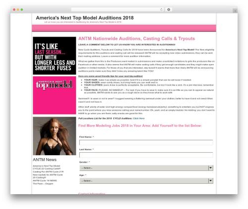 WordPress theme For Women-Female - antmauditions.com