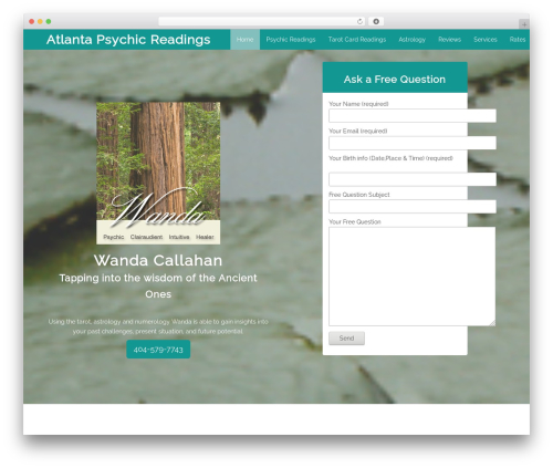 WordPress website template Cityscape - atlantapsychicreadings.com
