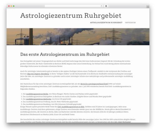 Best WordPress template Storyteller - astrologiezentrum-ruhrgebiet.de