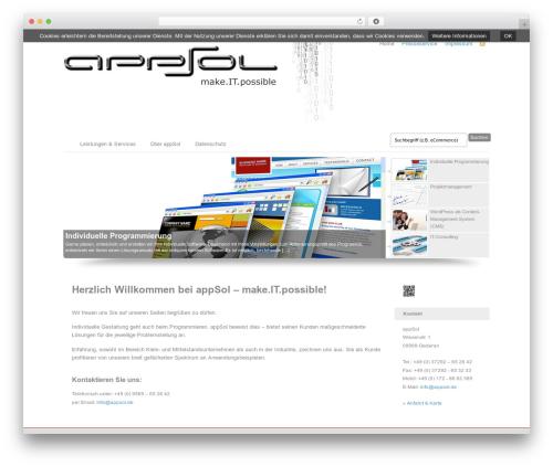 Custom Community Child WordPress theme - appsol.de