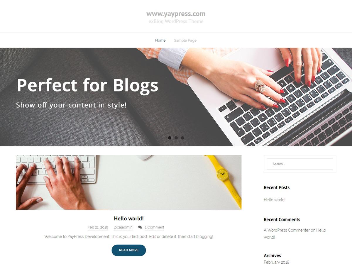 exBlog WordPress blog theme