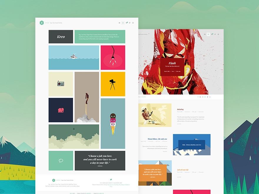 Freelo theme WordPress portfolio