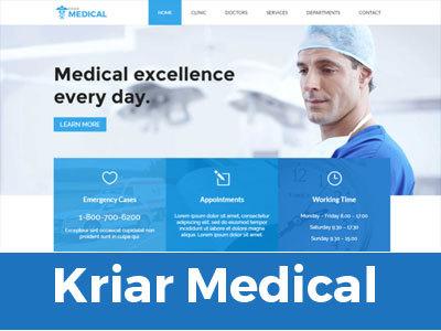 Kriar Medic medical WordPress theme
