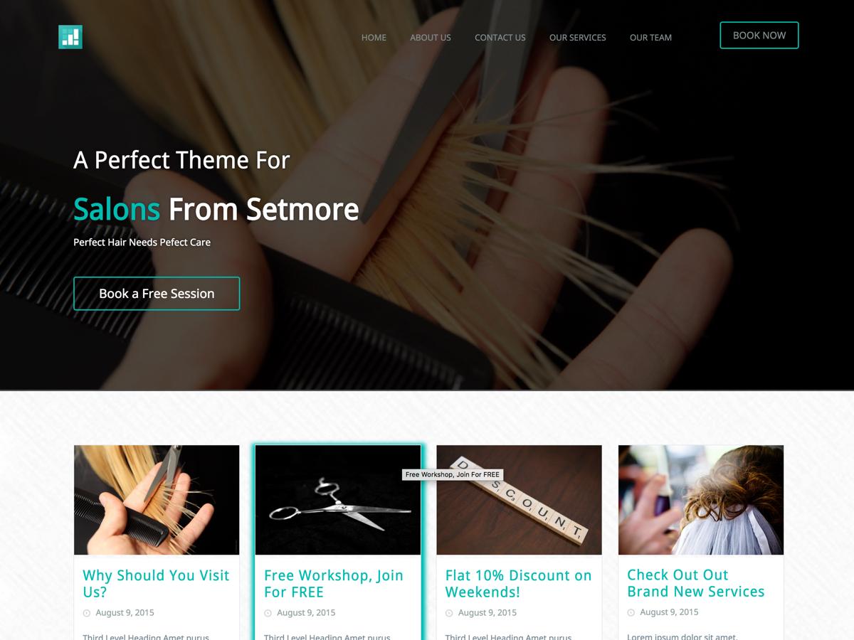 Setmore SpaSalon company WordPress theme