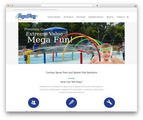 Specular WordPress theme - aquaplaysolutions.com