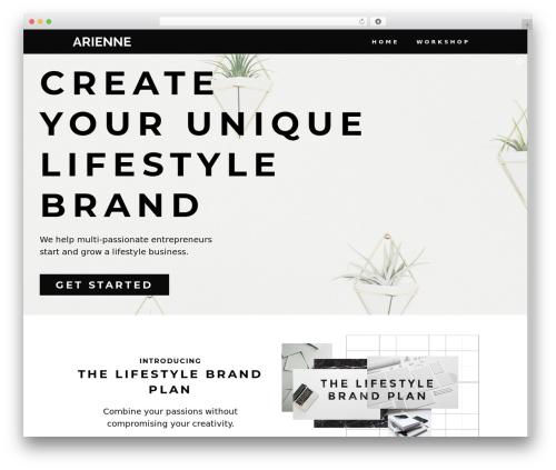 Stockholm WordPress theme - arienneonline.com
