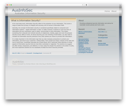 WordPress template Andreas04 - ausinfosec.com