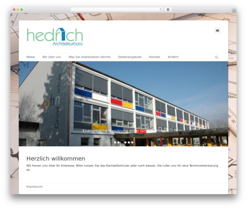 WordPress template Catch Base Pro - architekt-hedrich.de