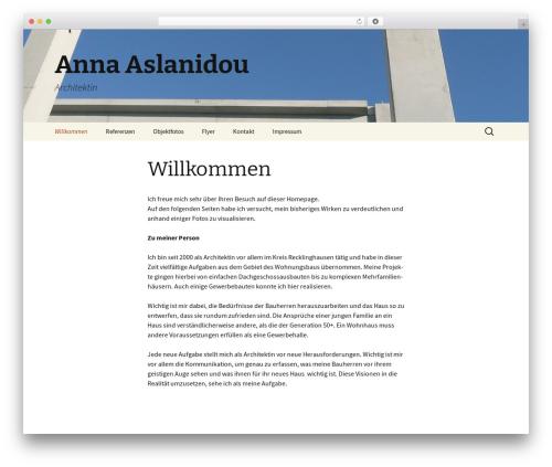 WordPress theme Twenty Thirteen - aslanidou.de