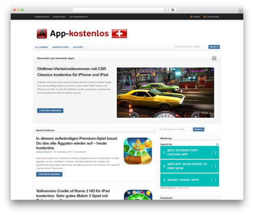 WP-Clear best WordPress template - app-kostenlos.ch