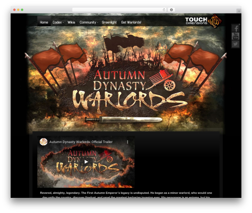 Zephyr WordPress theme - autumndynastywarlords.com
