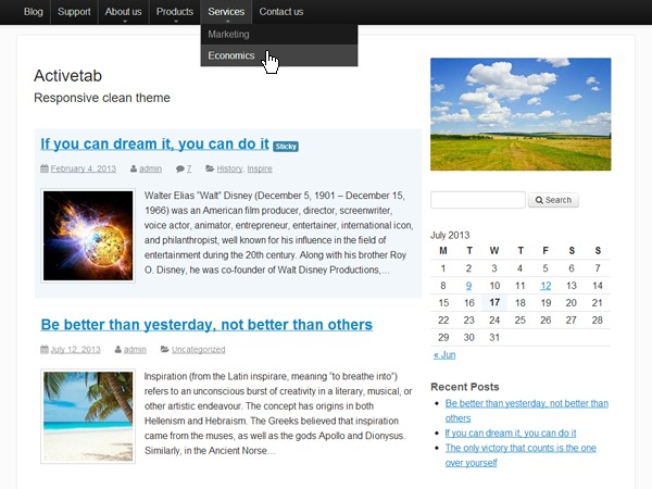 Activetab theme WordPress free