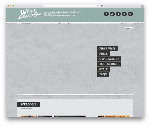Barcelona WordPress theme design - whippersnappergym.com