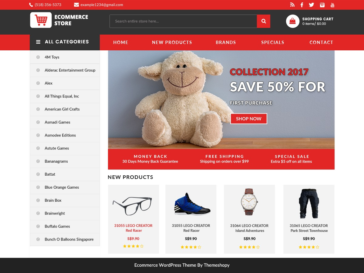 BB Ecommerce Store WordPress ecommerce template