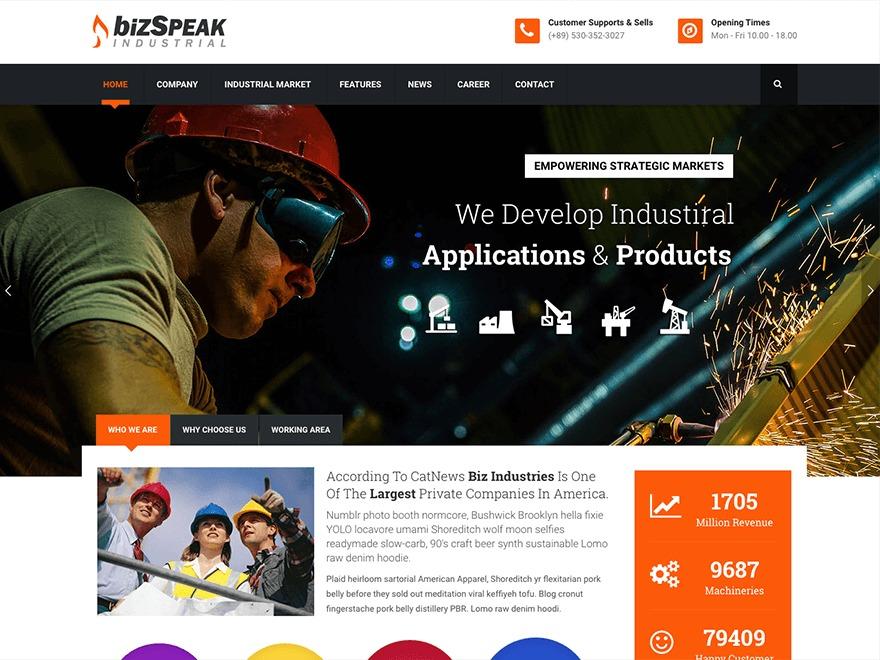 Best WordPress theme Bizspeak Child
