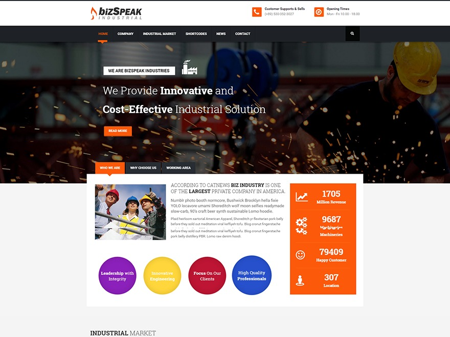 bizspeak best WordPress theme