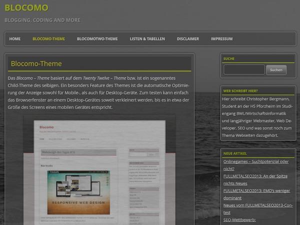 BlocomoTwo WordPress template