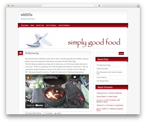 BlogoLife premium WordPress theme - wikieatia.com