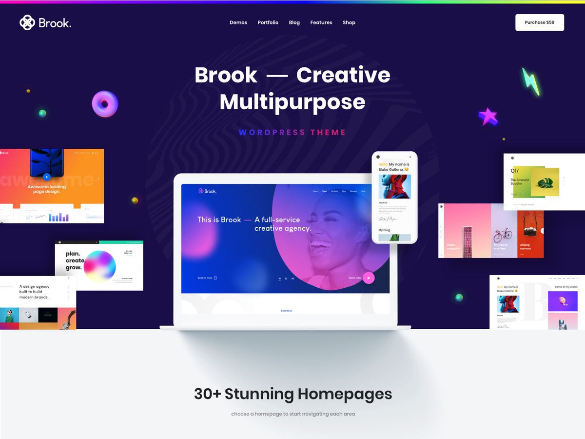 Brook Child WP theme