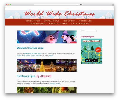 Cheer premium WordPress theme - worldwidechristmas.com