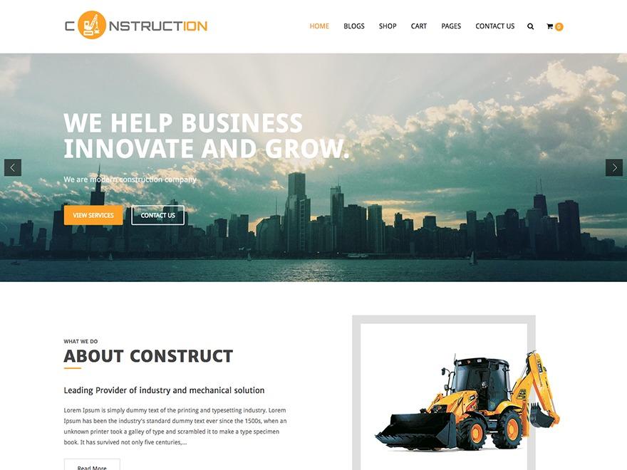 Construction Lite business WordPress theme