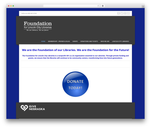 Corpo WordPress website template - foundationforlcl.org