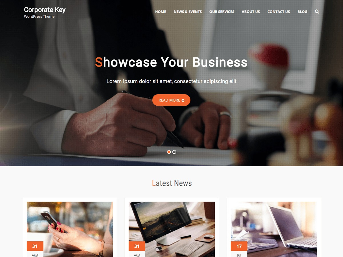 Corporate Key free website theme