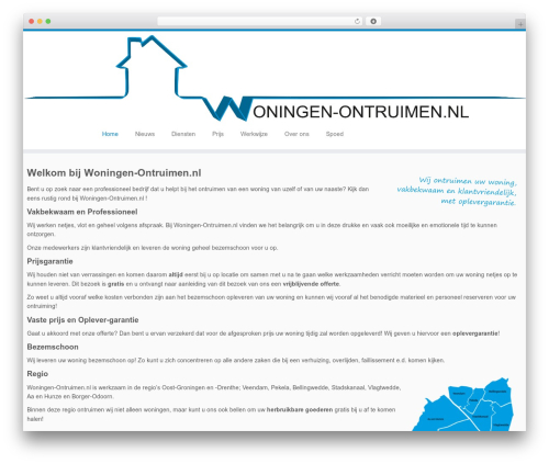 Customizr WordPress template free - woningen-ontruimen.nl