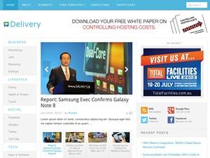 Delivery top WordPress theme