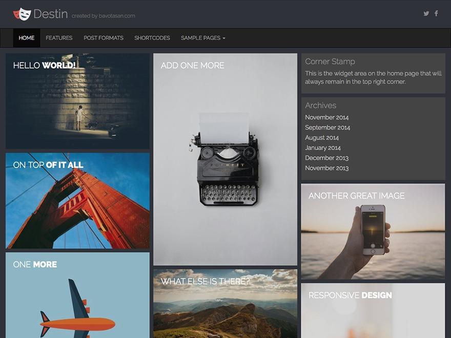 Destin photography WordPress theme