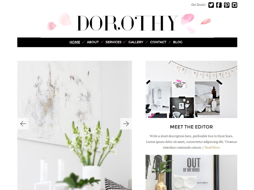 Dorothy WordPress template