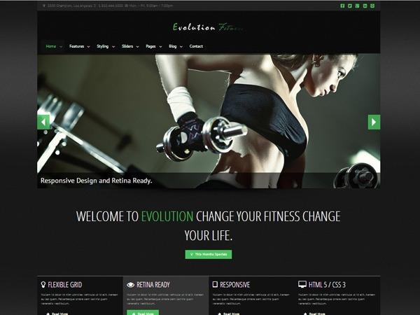 Evolution Fitness fitness WordPress theme