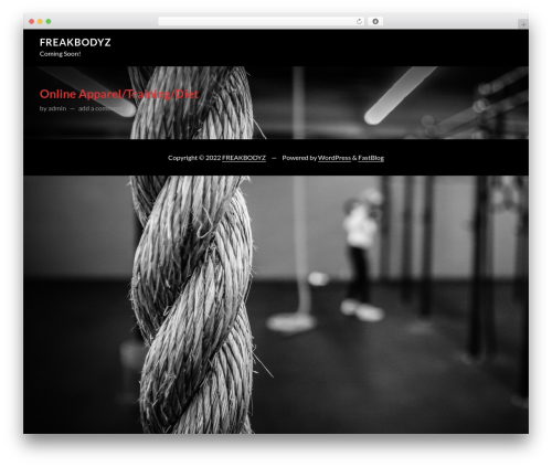 FastBlog free WordPress theme - freakbodyz.com