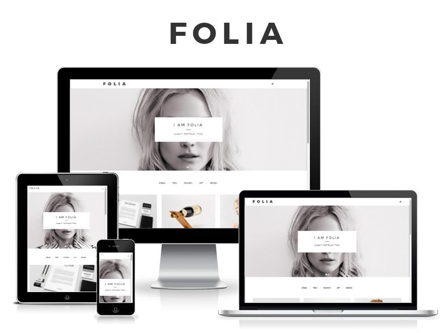 Folia best portfolio WordPress theme