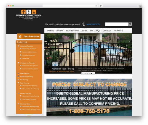 Freely WP template - fence-depot.com