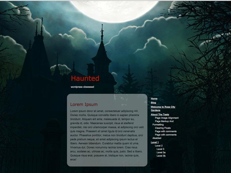 haunted best WordPress template