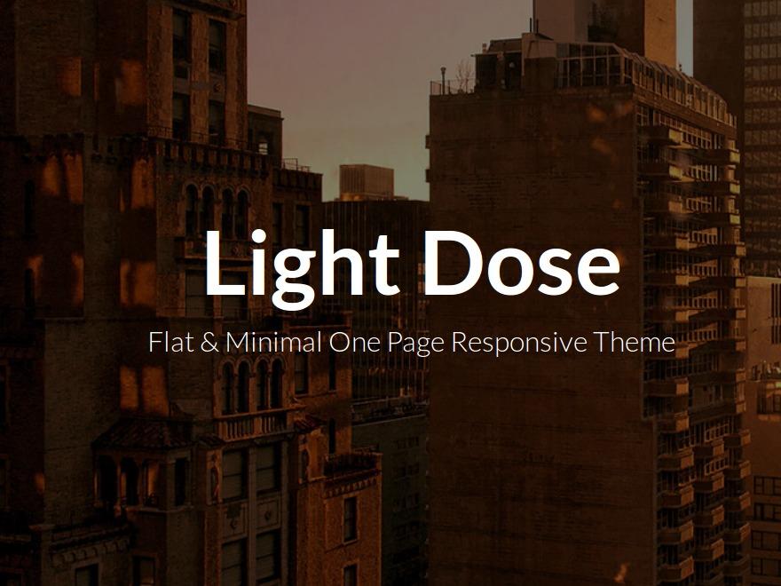 Light Dose top WordPress theme