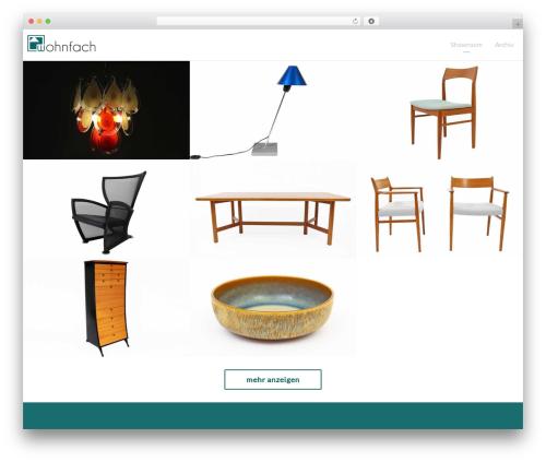 Light Dose WordPress theme design - wohnfach.de