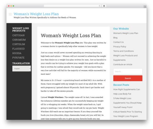 Magazie Minimal template WordPress free - womansweightlossplan.com