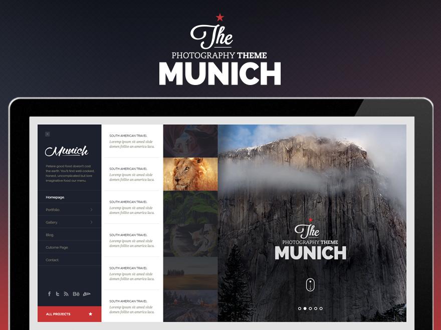 Munich WordPress photo theme
