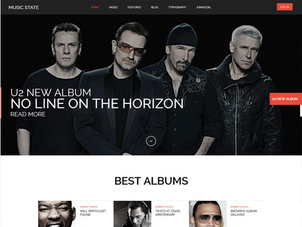 MusicState WordPress news theme