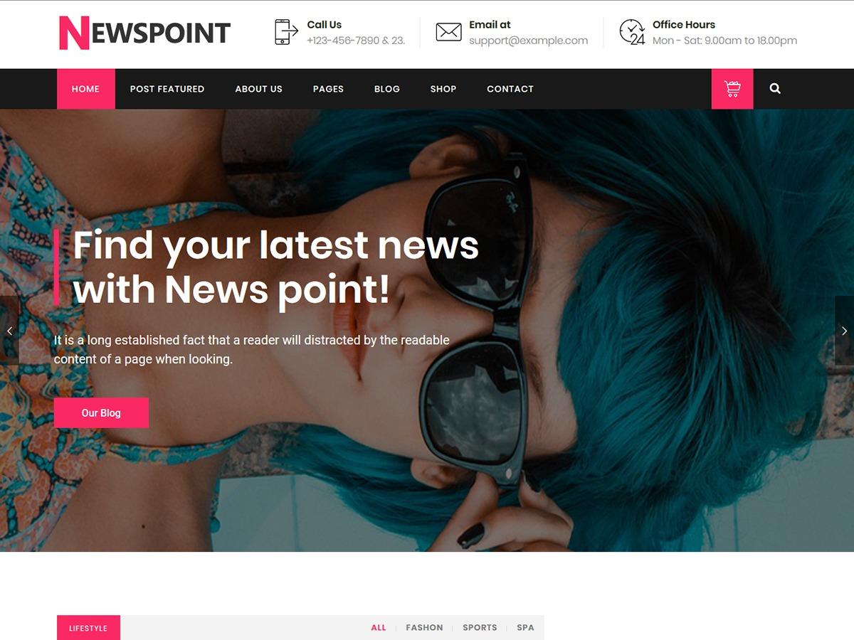 NewsPoint newspaper WordPress theme