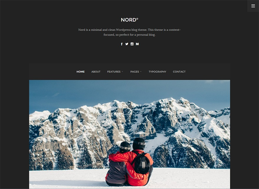 Nord Theme WordPress theme image