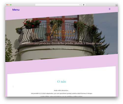 Oblique free WordPress theme - femms.cz
