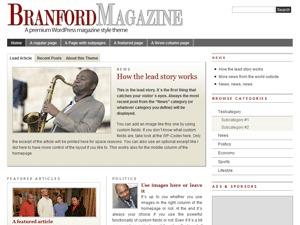 PRiNZ BranfordMagazine 2.6 WordPress news theme