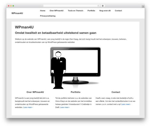 Responsive theme WordPress free - wpman4u.nl