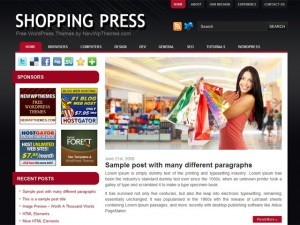 Shopping Press WordPress shop theme