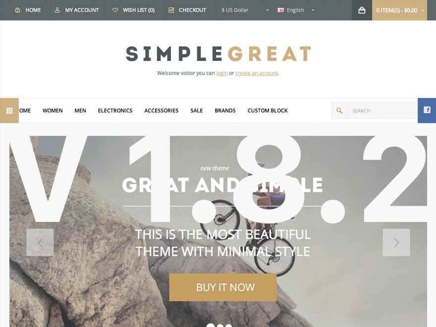 SimpleGreat WordPress store theme